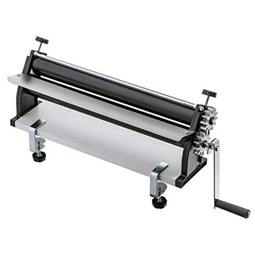 DKN 19-Inch Pizza Dough Roller Machine with Hand Crank - Pasta Maker, Dough Sheeter Features Non-Stick Rollers with Thickness Control - Solid Steel and Aluminum Construction
