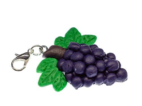 Miniblings - Pulsera con Colgante de Vino Tinto, diseño de Reina, Color Rojo