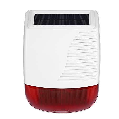 Alarmsirenen trap met zonne-energie & knipperlicht, draadloos outdoor waterdicht zonne-energie alarm licht voor GSM alarmsysteem