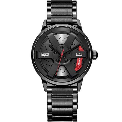 Reloj de cubo de rueda Diseño personalizado para hombre Reloj deportivo de cubo de cubo para hombre Reloj de hombre creativo de cuarzo impermeable de acero inoxidable