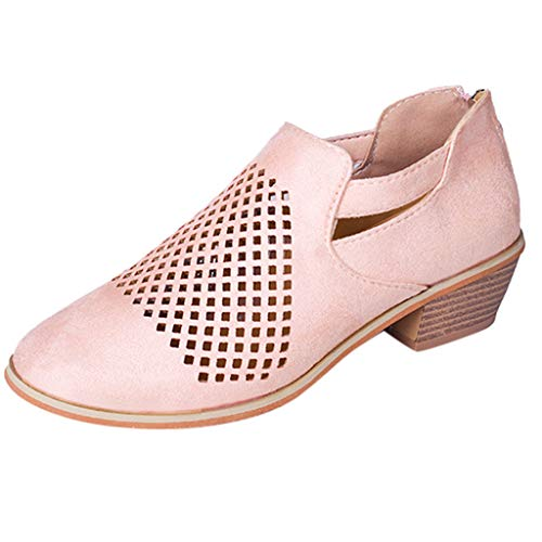 NINGSANJIN Damen Snow Boots mit Warm Gefüttert Schlupfstiefel Flach Stiefel Frauen Klassisch Kurzschaft Schuhe (Rosa,39)