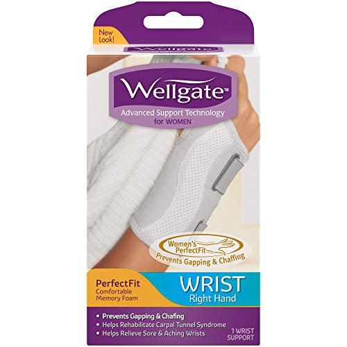 Wellgate for Women PerfectFit Wrist Support, Right Hand ONE Size FITS Most Women