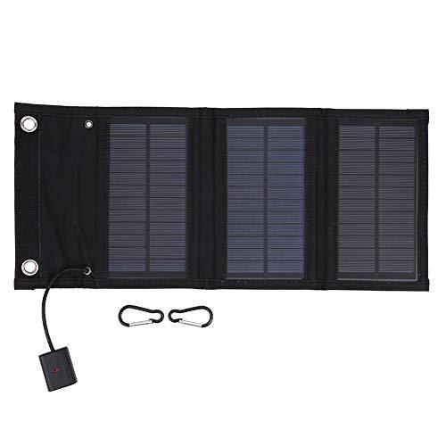 Kit de panel solar plegable a prueba de agua de 15 vatios, generador de panel solar portátil, estación de energía, cargador solar liviano, con indicador de carga LED, para teléfono celular, exteriores