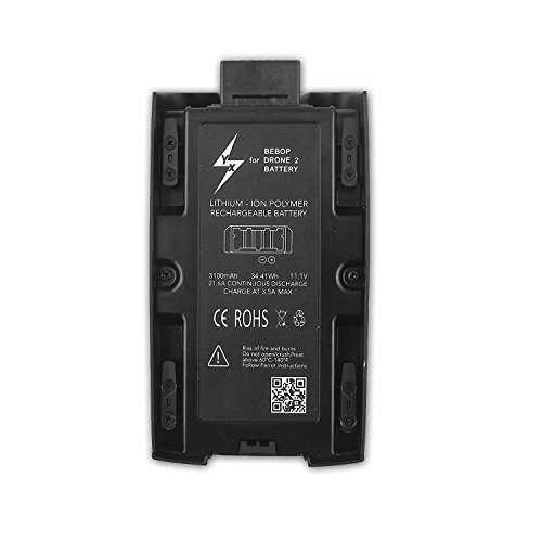 Rantow High Capacity 3100mAh 11.1V Battery Compatible with Parrot Bebop 2 Drone/Bebop 2 FPV Drone