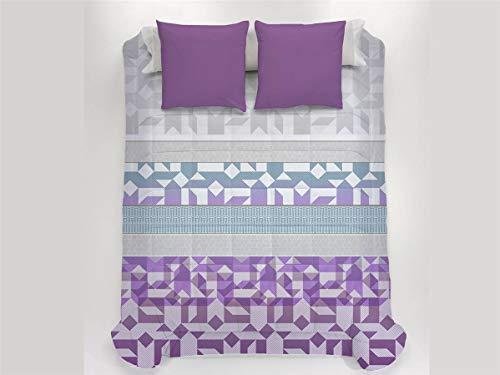 JAVIER LARRAINZAR Edredón Conforter Tripoli 135-Color Malva, Cama 135 cm