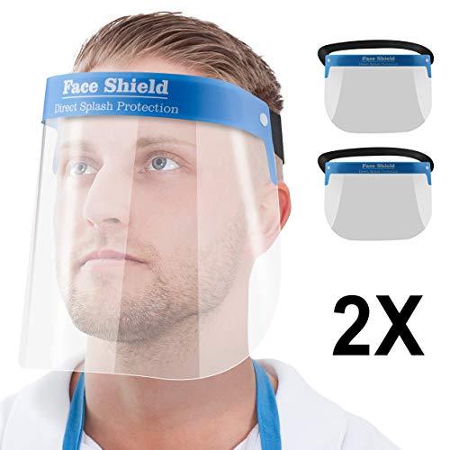 Blumax 2X Gesichtsschutz-Schirm Augenschutz Spuckschutz Face-Shield Schutzschild Gesichtsschirm (2)