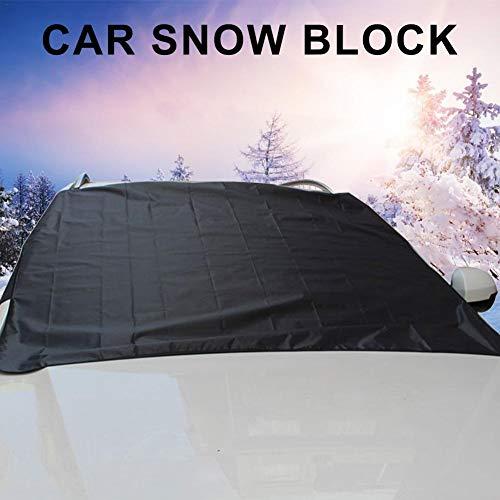Car Snow Block, Windschutzscheibe, Four Seasons Universal Car wasserdichte Sonnenschutzabdeckung mit Ohrenschützern