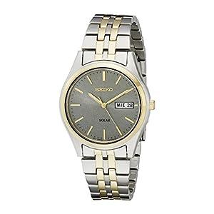 Fashion Shopping Seiko Men's SNE042 Stainless Steel Solar Watch