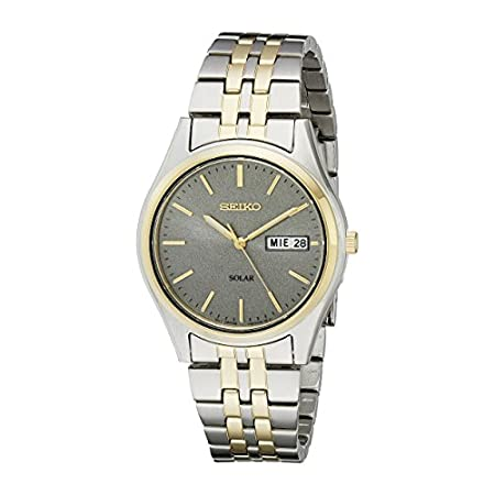 Fashion Shopping Seiko Men's SNE042 Stainless Steel Solar Watch
