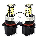 MCK Auto - Reemplazo para P13W LED CanBus Conjunto de bombillas blancas muy claras y sin errores compatibles con A4 B8 Q5