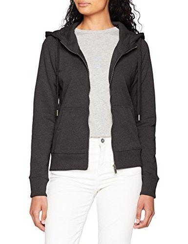 ONLY NOS Damen Sweatjacke Onlmarbella L/S Zip Hood Swt, Grau (Dark Grey Melange), 34 (Herstellergröße: XS)