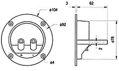 Visaton VS-ST77 - Flachbildschirm-Wandhalterung (Schwarz)