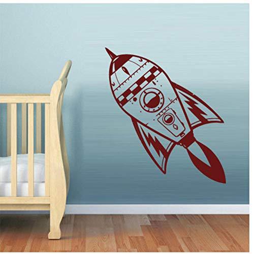 Muursticker doe-het-zelf verwijderbare Vinyl muur Sticker Slaapkamer Kids Decal Kwekerij Raket Ruimte Cosmos Woonkamer Home Decor 56x89cm