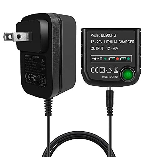 FLAGPOWER 20V Lithium Battery Charger LCS1620 for Black&Decker 16V 20V Lithium Ion Battery LBXR20 LBXR20-OPE LB20 LBX20 LBX4020 LB2X4020 LBXR2020-OPE BL1514 LBXR16
