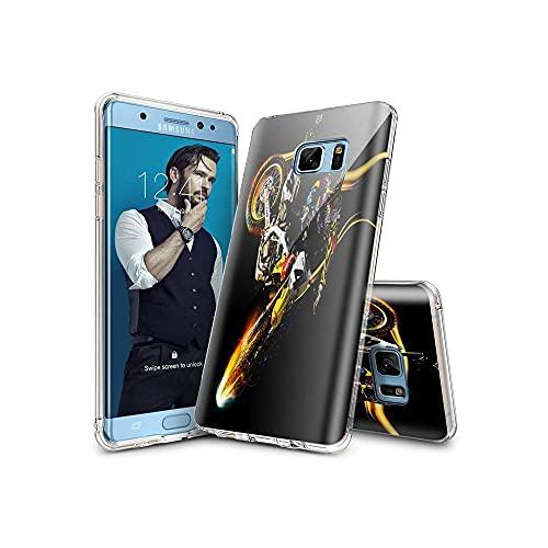 HUHFVUY Samsung Galaxy S7 Funda, Slim Fit Skin Cover Digital Resistente a los arañazos Suave y Flexible TPU Gel de Silicona Funda para Samsung Galaxy S7 D009