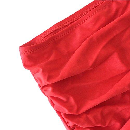 Amourri Womens Retro Vintage Polka Underwire High Waisted Swimsuit Bathing Suits Bikini