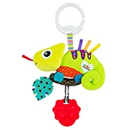 LAMAZE Mini Clip and Go Chameleon Baby Toy, Clip On Baby Pram Toy and Pushchair Toy, Newborn Sensory...