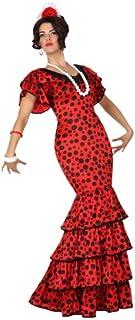 Atosa-15587 Disfraz Flamenca, color rojo, XS-S (15587