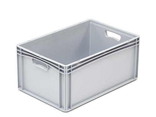 hünersdorff Eurobehälter / Eurokiste / Lagerbox Basicline (PP) mit 2 Handgriffen, sicher stapel- und kombinierbar, Made in Germany