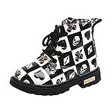 ZARLLE Botas Niño Invierno Sneaker Cartoon Print Boots Niños Zapatos Casuales de bebé Botas de Chicos Chicas Sneaker Patucos Zapatillas Calientes de Bebé niños niñas