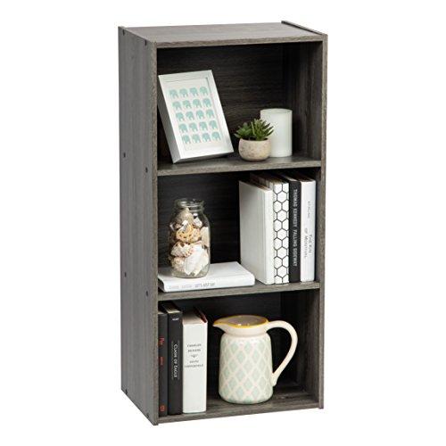 IRIS USA, Inc. TSB-3 3-Tier Wood Storage Shelf, Gray