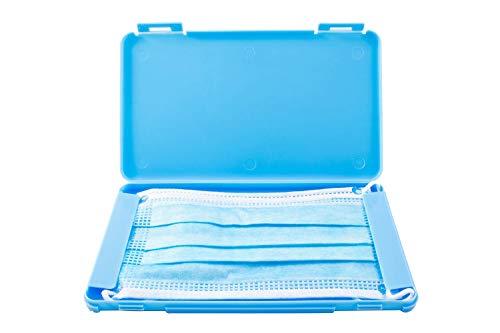 TBOC Custodia per Mascherina - Scatola Rettangolare [Blu] Portaoggetti per Maschere Organizzatore Portatile in Plastica Rigida per Mask Monouso Leggero e Riutilizzabile per Proteggere Polvere Sporco
