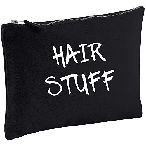Cheveux Stuff Noir sur toile Make Up Sac cadeau Idée de cadeau Trousse de toilette Cadeau