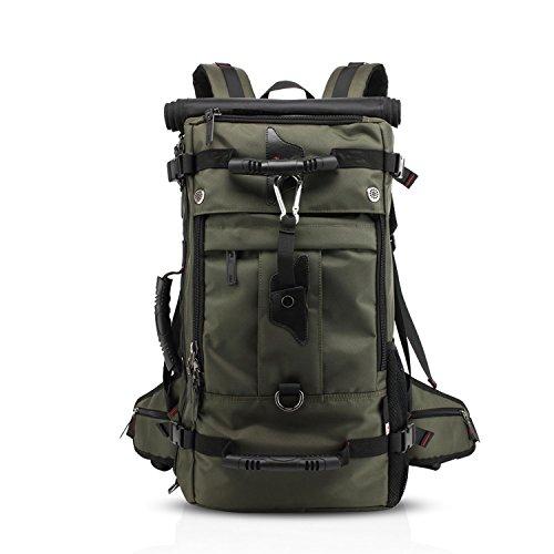 Wandern Rucksack 40L Reiserucksack Langlebig Wasserdicht für Outdoor Sport, 3 in 1 als Rucksack, Umhängetasche und Handtasche, Sporttasche für Laptop 17