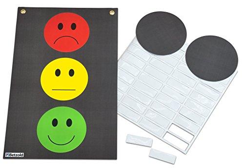 Betzold 74593- Magnetische Verhaltensampel - Klassen-Ampel für die Tafel zur Werteerziehung