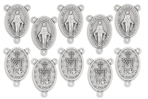 Lot of 10 - Rosary Center Miraculous Medal Mary...