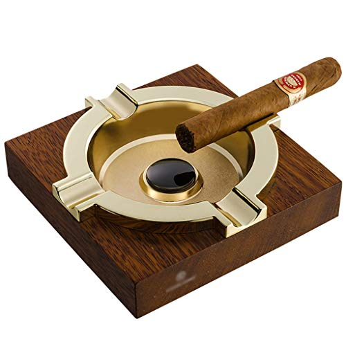 WZNING Cenicero cigarro de madera cigarro cenicero al aire libre interior cigarro cenicero decoración de escritorio cenicero (adecuado para la mayoría de los cigarros) Decoración de oficina de...