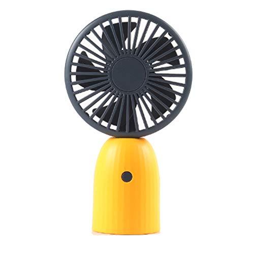 YWQQDP USB-Ventilator, bewegliche Desktop-Handheld Kleiner Ventilator, 3-Gang einstellbar hohe Leistung, Geeignet für Home-Office-Outdoor-Reisen,Gelb