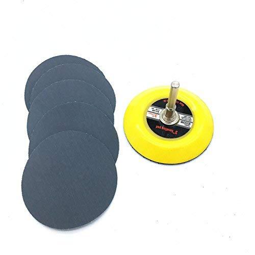 SLRMKK Disco de lijadora de Disco de lijadora de 10ps 75-80mm, Grano 3000-7000 para Elegir Papel con 1 Placa de Almohadilla de Pulido abrasivo de 3 Pulgadas para Amoladora eléctrica