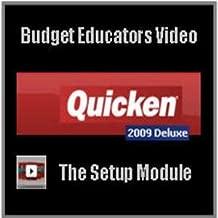 Quicken Deluxe 2009 Video Tutorial - The Setup Module