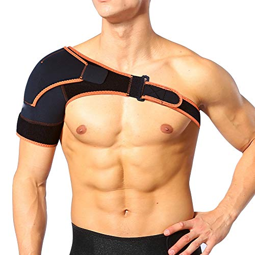 Yosoo Shoulder Brace Support Strap Wrap Belt Support Band Pad - Breathable Neoprene Shoulder Support for Rotator Cuff, Injury Prevention, Dislocated AC Joint, Frozen Shoulder Pain, Sprain, Soreness