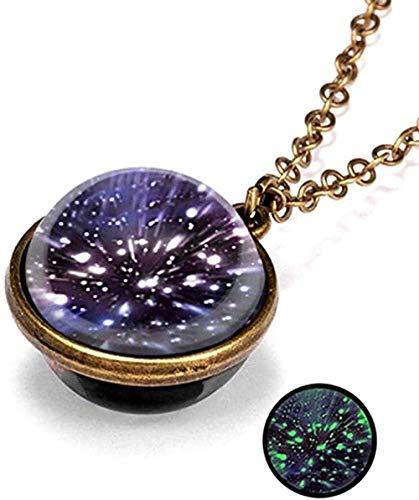 ZHIFUBA Co.,Ltd Collar Collar de Cristal Luminoso Collar con Colgante Luminoso Collar de joyería Vintage Regalo