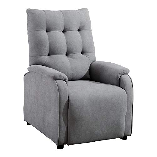 More4Homes CHARLBURY FABRIC RECLINER ARMCHAIR SOFA FIRESIDE CHAIR RECLINING CINEMA (Grey)
