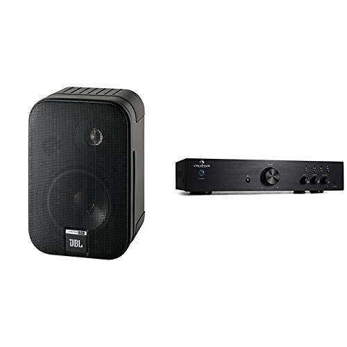 JBL Control One Robuster Kompakter Regallautsprecher Satellitenlautsprecher Studio-Monitor-Lautsprecher (1 Paar) schwarz & auna AV2-CD508 - HiFi Audio-Verstärker, Stereo Endstufe, schwarz