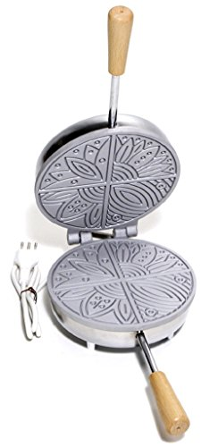 CBE Haushaltsgeräte 8030100CR Ferratelle Keksdose rund, 600Watt, Chrom