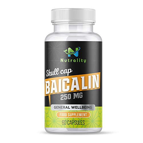 Nutrality Baicalin Extract Supplement, 250 mg, Chinese Skullcap Root Powder, Well-Being, Balance, and Mood, Non-GMO and Gluten Free, Vegan Friendly