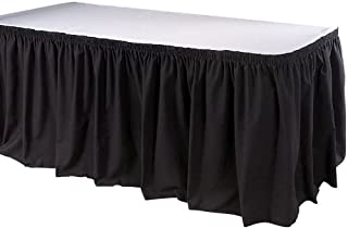 Phoenix TSKT-13-BK 13 英尺桌裙,衬衫,黑色