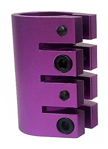 GAOJJ Pro Scooter Clamp 4-Bolt 31.8mm Clamp Abrazadera de Manillar HIC, aleación de Aluminio 6061,Púrpura