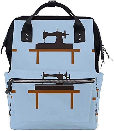 Mummy Backpack Vintage naaimachine Baby Dad Print luiertas boodschappentas verzorging grote capaciteit mummie rugzak waterdicht Stijlvol Mama Mutti tas rugzak luier Muti