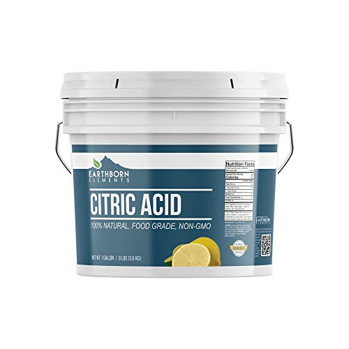 Citric Acid (1 Gallon) Natural & Highest Quality, Pure, Food Safe , Non-GMO, Resealable Bucket by Earthborn Elements