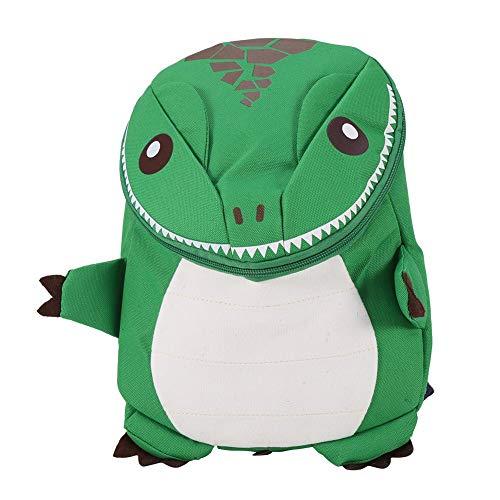 Mochila para niños - Cartón Mochila escolar para niños Mochila escolar con dinosaurio animal 3D(Verde)
