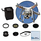 37MM Filter Kit for DJI Phantom 3 Series Drones. Kit Includes: CPL, ND4, ND8, UV, Lens Cap, Cap Keeper + eCostConnection Microfiber Cloth