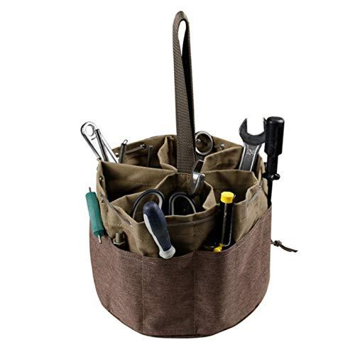 Bolsa de almacenamiento de herramientas, bolsa de almacenamiento de herramientas multifunción, bolsa de herramientas de jardín resistente al desgaste, utilizada en electricistas, fontaneros 2 piezas