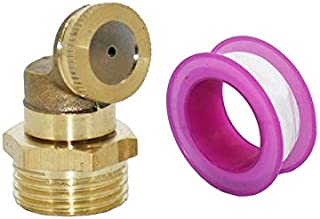 "XISENHAN Male 1/2 3/4"" 1 2 3 4 Hole Brass Water Nozzle Spray Misting Nozzle Refraction Garden Sprinklers Jardim Home Water..."