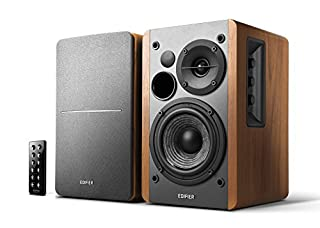 Edifier R1280DB Powered Bluetooth Bookshelf Speakers - Optical Input - Wireless Studio Monitors - 4 Inch Near Field Speaker - 42w RMS - Wood Grain (B01NCTNZRC) | Amazon price tracker / tracking, Amazon price history charts, Amazon price watches, Amazon price drop alerts