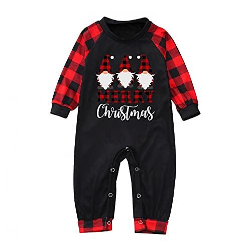 FeelFree+ Conjunto de Pijamas Familiares Navideños Dos Piezas Mujer Hombre Niños Bebé Tops Camiseta y Pantalones Invierno Otoño Manga Larga Ropa de Dormir Camisón Chándal Casual Homewear